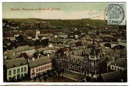 Nivelles - Panorama Et Palais De Justice - 1910 - Edit. Papeterie Godeaux - 2 Scans - Nivelles