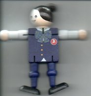 Turkish Airlines Air Hostess Popje In Hout  Poupée Bois Wooden  Doll Puppe  10.50 Cm  Vliegtuig Avion Airplane  Flugzeug - Aviation Commerciale