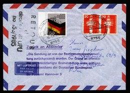 A5696) Bund Brief Postkrieg Alzenau 14.01.86 Nach Polen Mi.1265 - Briefe U. Dokumente