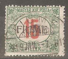 1918 - FIUME Porto 15 Fil. Punca - Croatia