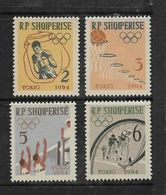 Albania, 1963, Promotional Issue For Tokyo 1964 Olympics, Set Of 4 MH * - Albania