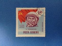 1963 ROMANIA POSTA ROMANA SPAZIO TERESKOVA 1.40 L FRANCOBOLLO USATO STAMP USED - Space