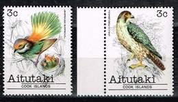 Aitutaki 1981, Michel# 374 - 375 ** Vögel - Aitutaki