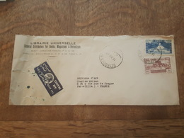 1949 - Par Avion Air France - TAD Beyrouth RP - Destination Paris Editions Charles Moreau - Entête Librairie Universelle - Liban