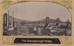 The QUEENSBOROGH BRIDGE (Kanada) - Golddruck Karte Gel.1909 V. New York > Marcilly S Eure > Paris - Britisch Kolumbien