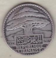 LIBAN / LIBANON. 25 PIASTRES 1929 . ARGENT - Liban