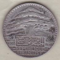 LIBAN / LIBANON. 25 PIASTRES 1936 . ARGENT - Lebanon