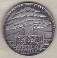 LIBAN / LIBANON. 25 PIASTRES 1936 . ARGENT - Libanon