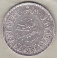 Egypte. 10 Piastres AH 1358 – 1939. Roi Farouk. Argent. KM# 367 - Egypte
