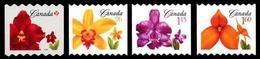 Canada (Scott No.2244-47ii - Courant Orchidé / Orchid Definitives) [**] Timbre Roulette / Coil Stamp - NOTE - DC - 1952-.... Règne D'Elizabeth II