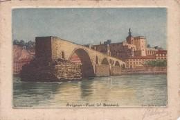 [84] Vaucluse > Avignon Pont St Benezet Eau Forte Originale Signé Et Contre Signé SCHLUMBERGER - Avignon
