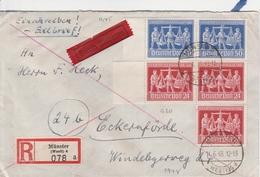 Allemagne Zone AAS Lettre Recommandée Par Exprès Münster 1948 - Zone AAS