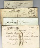 Ar21- 4 Lettres 7 MEZIERES  Ardennes. Toutes Différentes. - 1801-1848: Precursori XIX