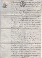 Acte Notarial Notaire à Azé Saône Et Loire Echange De Biens Aucaigne De Ste Croix Et Chevené 4 Pages 1819 - Manuscripts
