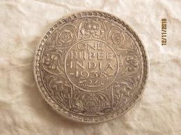 British India: 1 Rupee 1938 (point /dot 6h) - Inde