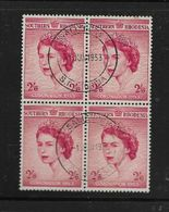 S.Rhodesia, EIIR Coronation, 2/6 Block Of 4 SALISBURY 1 JUN 1953 C.d.s. (1st Day) - Rhodésie Du Sud (...-1964)