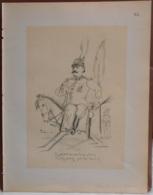 """Mons. Superbe Caricature De """"Léon De Cannart D'Hamale"""" Par René D'Inn. Publiée En 1909 - Culture"""