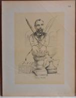 """Mons. Superbe Caricature De """"Marius Renard"""" Par René D'Inn. Publiée En 1909 - Culture"""
