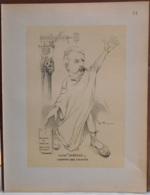 """Mons. Superbe Caricature De """"Achille Tondeur"""" Par René D'Inn. Publiée En 1909 - Culture"""