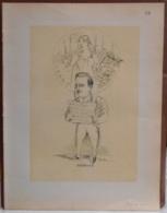 """Mons. Superbe Caricature De """"Gaston Lexin"""" Par René D'Inn. Publiée En 1909 - Culture"""
