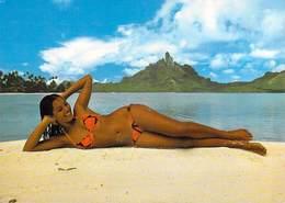 Polynésie Française BORA BORA (vahiné En Maillot De Bain ) -BV (Photo Erwin Christian Tahiti 210)*PRIX FIXE - Polynésie Française
