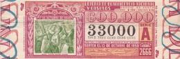 LOTERIA DE BENEFICENCIA NACIONAL Y CASINO SERIE A AÑO 1945 CASA DE LA MONEDA, BUENOS AIRES, ARGENTINE-BLEUP - Lottery Tickets