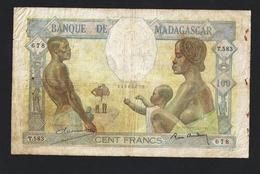 MADAGASCAR 100 FRANCS 1937 PICK#40 RARE - Madagascar
