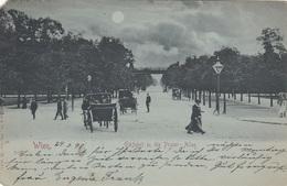 Mondscheinlitho WIEN - Einfahrt In Die Prater Allee, Gel.1898, Ecken Bestossen - Prater