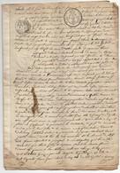 Jugement Tribunal De Mâcon Litige Ochier Aucaigne De Ste Croix 10 Pages 1820 3 Cachets Dont Un Sec - Manuscripts