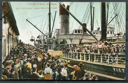 1909 S.S. VICTORIA Leaving Seattle For Nome Alaska Ship Postcard - Ferries
