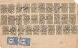 RRR! Österreich NACHPORTO 1922 - 2x1 Krone (Ank84) Nachporto + 30x60 Heller (Ank272) Auf Briefstück/Ladung - Portomarken