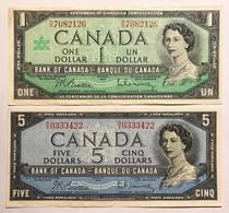 Canada 5 $ 1954 + 1 $ 1967 Naturali Bb/spl LOTTO 439 - Canada