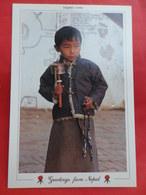 Népal  Visages     Jeune Lama De Boudha - Népal