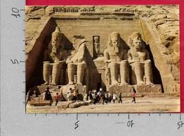 CARTOLINA VG EGITTO - ABU SIMBEL Templi - The Temple - 10 X 15 - ANN. 1985 - Abu Simbel