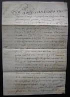 Parchemin De 1773 Généralité De Poitiers Vente Faite Par Jean Guittard Et Sa Femme à Jacques Menon - Manuscripts