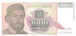Yugoslavia  P-140  1000 Dinara  1994  UNC - Yugoslavia