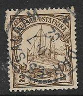 German East  Africa 1901, 2 Pesa, Used DAR ES SALAAM  20  7 02 C.d.s. - Colony: German East Africa