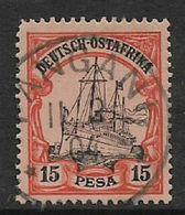 German East  Africa 1901, 15 Pesa, Used PANGANI 11   2  04  C.d.s. - Colony: German East Africa