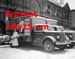 Reproduction D'une Photographie Ancienne De Deux Camions Frigorifiques De La Société E.Joseph En 1945 - Reproductions