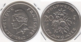 Polinesia Francese 20 Francs 1967 KM#6 - Used - Polinesia Francese