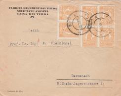 Roumanie Lettre De Turda Pour L'Allemagne 1923 - Postmark Collection
