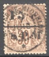 1891  Alphée Dubois 30 Cent Surchargé  15 C. Et SPM  Yv 12 - St.Pierre Et Miquelon