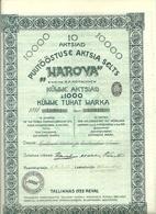 Estonia Estland 1922 NAROOVA 10 000 Aktien Share Holzfabrik - Industrie