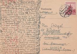 Slovaquie Carte Censurée Pour L'Allemagne 1942 - Slovaquie