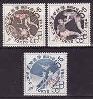 JAPAN 1963-Olympic Games, Tokyo - Mi 832-834 - SPECIMEN (MIHON) - Rare! - MNH** VF - 1926-89 Emperor Hirohito (Showa Era)