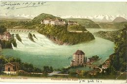 RHEINFALL UND DIE ALPEN  AÑO 1906 - ZH Zurich