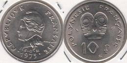 Polinesia Francese 10 Francs 1975 KM#8 - Used - Polynésie Française