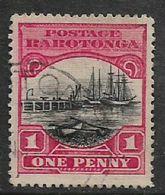 Cook Islands, 1920, 1d Black & Red, Used - Cook Islands