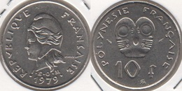Polinesia Francese 10 Francs 1979 KM#8 - Used - Polynésie Française