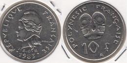 Polinesia Francese 10 Francs 1983 KM#8 - Used - Polynésie Française
